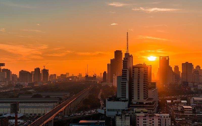 Bangkok coucher de soleil